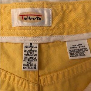Talbots Shorts - Talbots Yellow 5-Pocket Shorts • Size 8